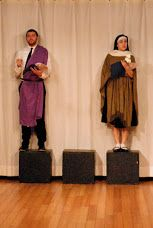 Statuary Discourse...St Joseph & St Theresa from CONFESSIONS [Seth Shirley, Lily Ali-Oshatz] Photo: Cindy Boyle Images Last Rites, St Joseph, Funeral, Confessions, Catholic, Ali, Actors, Image, Fashion