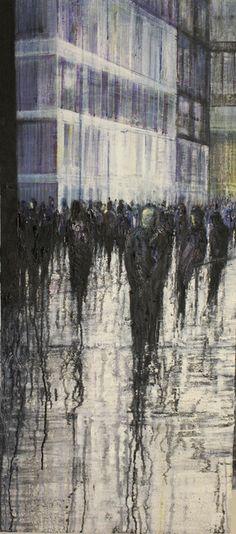 'Passing of Time' (2013) (2012) by Zurich-based British artist Lesley Oldaker. Oil on canvas, via Saatchi