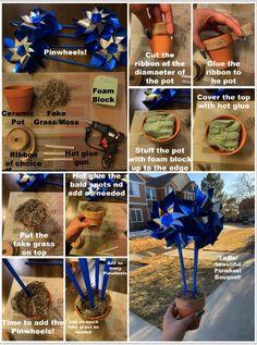 DIY Pinwheel Bouquet Diy Pinwheel, Bald Spot, Pinwheels, Bouquet, Ceramics, Ceramica, Pottery, Bouquet Of Flowers, Bouquets