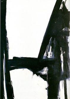 Franz Kline - Artiste peintre abstrait - Noir et blanc