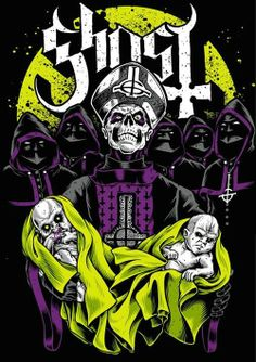one of my favorite bands. Band Ghost, Ghost Bc, Tour Posters, Band Posters, Ghost Banda, Woodstock, Ghost Papa Emeritus, Ghost Logo, Rock Y Metal