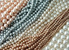 Louis Rousselet glass pearls baroque smooth strings in various colors