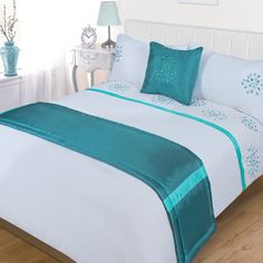 Java Teal Bed in a Bag - Bed and Bedcover Teal Bedding, Duvet Bedding Sets, Bed Cover Design, Rideaux Design, Superking Bed, Clean Bedroom, Bed In A Bag, Bed Runner, Quilt Cover Sets