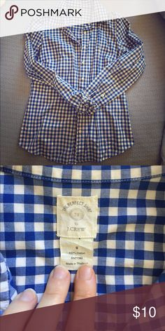 Perfect Shirt J.Crew j. Crew gingham perfect shirt fit button down-- Fun for cross over Spring/Summer! J. Crew Tops Button Down Shirts