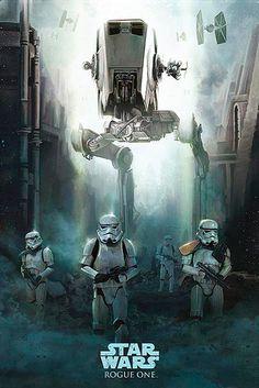 Póster Stormtrooper Patrol. Rogue One: A Star Wars Story Póster basado en la última de las entregas de la saga Star Wars.