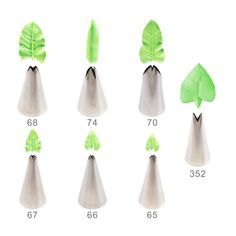 7pcs/set tips nozzles Creative Icing Piping Nozzle Pastry Tips Sugar Craft Cake Decorating Tools for make flower leaves Review