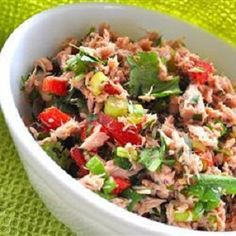 http://paleo.digimkts.com   I thought I'd never find something like this.    Tuna coupled with fresh vegetables.  Nutritious enough to constitute a meal, but also great as a side dish. High in fibre and protein.