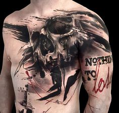 What does trash polka tattoo mean? We have trash polka tattoo ideas, designs, symbolism and we explain the meaning behind the tattoo. Cool Tattoos For Guys, Badass Tattoos, Hot Tattoos, Skull Tattoos, Black Tattoos, Body Art Tattoos, Sleeve Tattoos, Awesome Tattoos, Tatoos