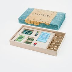 The Island is set of games, which contents strategic board game, Pexeso and Schafkopf Card Game. Nontraditional is connection between Pexeso, Card game and Board game. Games are situated in scene of the inhospitable Island. Everyone wants to leave from that Island because of lack of fun and eating options. The players should build a boat, gain the treasure or start new life in another Island. Gameboard is fully magnetic.