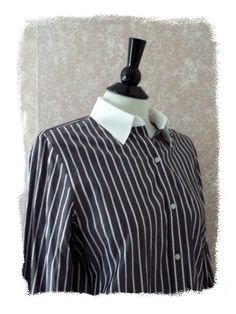 NEW Womens Ralph Lauren Blouse Button Down Long Sleeve Brown White Striped NWT #fashion #fall