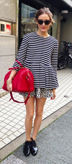 stripes, leopard and red...