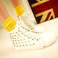 2012 Korea influx of thick-soled sneakers my friend p banksiana platform shoes shoes shoes Korean rivet shoes womens shoes