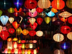 The beauty of lantern in Hoi An, Lanterns are alwa Chinese New Year Party, New Years Party, Chinese Holidays, Hoi An, Christmas Lights, Christmas Cards, Chinese New Year 2016, Chinese Lantern Festival, Asian Party