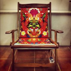 Indian kitsch-sy chair