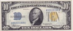 1934A $10 North Africa silver certificate, UNC | Golden Eagle Coins
