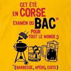 bac corse barbecue apero cuite biere Tee shirts - T-shirt Premium Homme
