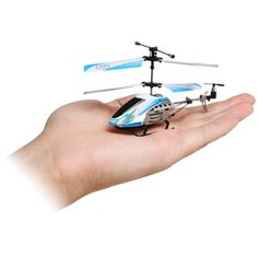Micro R/C Helicopter.  MacGyver LOVES R/C anything, but ESPECIALLY helicopters.