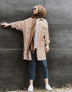 Modest Fashion Hijab, Modern Hijab Fashion, Casual Hijab Outfit, Hijab Fashion Inspiration, Islamic Fashion, Muslim Fashion, Modest Outfits, Fashion Outfits, Hijab Style