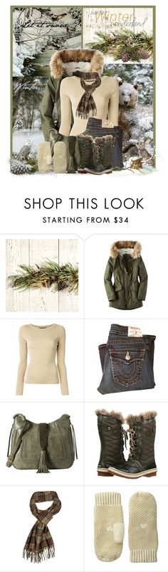 """Winter Wonderland"" by jackie22 ❤ liked on Polyvore featuring Ballard Designs, American Eagle Outfitters, Dolce&Gabbana, True Religion, Steven, SOREL, Pendleton, Pistil, Winter and snow"