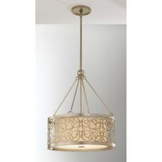 Murray Feiss Arabesque 4 Light Drum Shade Pendant F2537/4SLP