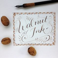 If you gather walnut husks in autumn, you can make your own walnut ink for calligraphy. This ink has a beautiful gold-brown color and you can write very fine lines with it. Today I'll show you a re…