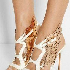 Cut Out Butterfly Side Women High Heel