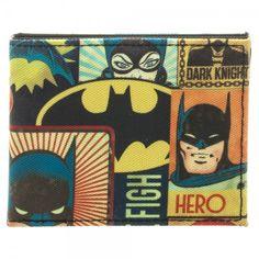 Batman Vintage Sublimated Bi-Fold Wallet