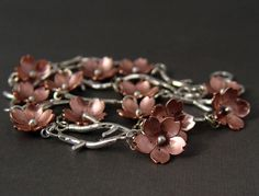 Cherry Blossom Branch Bracelet Metalsmithing MADE TO by HapaGirls