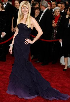 Reese Witherspoon | 12. REESE WITHERSPOON (2007) The newly single star capped off a winning awards-season red-carpet run with this subtly sh...