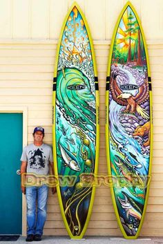 Drew Brophy and painted Riveria Paddleboards for Keen