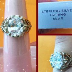 ❤️Avon Sterling Silver CZ Ring NIB Avon Sterling Silver CZ Ring Size 5 Avon Jewelry Rings
