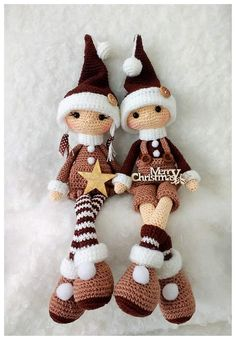 Tomte CAL van CuteDutch ♥ Made by mie ♥ - Salvabrani - .Tomte CAL van CuteDutch ♥ Made by mie ♥ - Salvabrani - Crochet Christmas Decorations, Holiday Crochet, Christmas Crafts, Christmas Elf Doll, Crochet Patterns Amigurumi, Crochet Dolls, Amigurumi Tutorial, Amigurumi Doll, Crochet Crafts