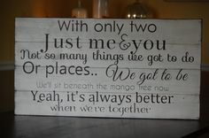 Jack Johnsons -Better together lyrics painted on barn wood. on Etsy, $140.00