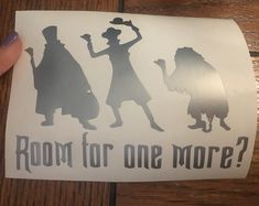 Disney Decal, Room for one more? Haunted Mansion Hitchhiking Ghosts vinyl decal/ sticker, car decal, Disney, laptop sticker, gift idea by TaylorMadeTreasureUS on Etsy