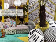 Choque de patrones gráficos en un mismo ambiente.  #pattern #clashing #patchwork #milan2014