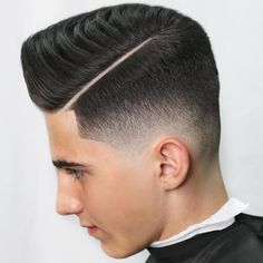 Check out these classic and modern hard part haircuts. The shaved part works with all kinds of men's hairstyles and hair types. Here's how to get the look. Great Haircuts, Popular Haircuts, Haircuts For Men, Hard Part Haircut, Side Part Haircut, Trending Hairstyles For Men, Cool Hairstyles For Men, Little Boy Hairstyles, Side Part Hairstyles