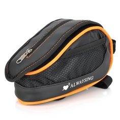 Find More Bicycle Bags & Panniers Information about Bike Bicycle Cycling Frame Pannier Front Tube Saddle Bag Pouch w/ Rain Cover   Black + Orange,High Quality bag paul,China bag spray Suppliers, Cheap pouch handbag from Homepro365 on Aliexpress.com