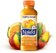Naked Juice Mighty Mango recipe..   1-¼Mangoes,1/2 cup Orange juice, 1 cup Apple juice, 1/3 Banana, hint of lemon. Mix all in blender