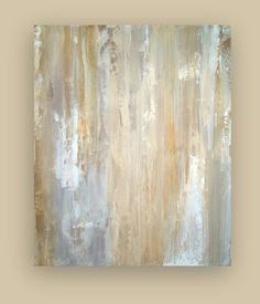 """Large Original Abstract Acrylic Painting Fine Art on Gallery Canvas Modern Contemporary Titled: WHITE DOVE. 30x36x1.5"""" by Ora Birenbaum. $325.00, via Etsy."""
