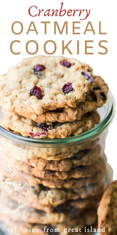 Oatmeal Cranberry Cookie recipe these oatmeal cookies are crisp on the outside chewy inside and packed with tart cranberries. Oatmeal Cranberry Cookie recipe these oatmeal cookies are crisp on the outside chewy inside and packed with tart cranberries. Healthy Oatmeal Cookies, Chewy Sugar Cookies, Oatmeal Cookie Recipes, Holiday Cookie Recipes, Easy Cookie Recipes, Sugar Cookies Recipe, Yummy Cookies, Simple Oatmeal Cookie Recipe, Holiday Cookies