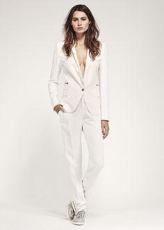 Mode femme ikks : Costume blanc femme IKKS