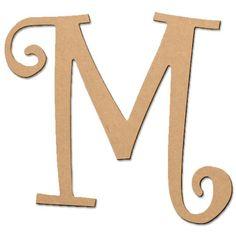 """ArtMinds Curlique Letter M, 13.5"""""""