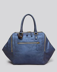 This opens up so big inside it's almost like a weekend bag.  Ilike this and also the gold color (other pin).  Liebeskind Satchel - Kayla Wing   Bloomingdale's