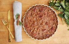 Grain-Free Date Pecan Pie - a healthy Thanksgiving pie recipe that tastes delicious!