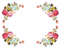 Varieté de Láminas para Decoupage: Mil Flores Kids Graphics, Borders And Frames, Floral Border, Stencil, Thoughtful Gifts, Vintage Floral, Watercolor Flowers, Flower Art, Decoupage