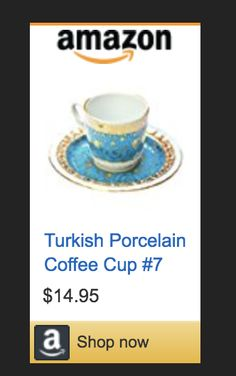 The best way to  #turkishcoffee is with this beautiful Coffee Set. #coffeetables #love #turkey #porcelain #blue #design