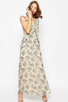 """12 Reasons To Give The Maxi-Dress A Chance #refinery29  http://www.refinery29.com/maxi-dresses#slide-9  If you fell in love with Erdem's charming ruffles from seasons past, try this not-so-pricey alternative.ASOS Frill Detail Maxi Dress, $122, available at <a href=""""http://us.asos.com/ASOS-WEDDING-Frill-Detail-Maxi-Dress-in-Print/19zjxu/?iid=6262051&transaction_id..."""