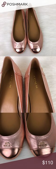 4d18dff0c80c45 Coach Women s Chelsea Flat Shoes     NWOT   NWOB    Coach Women s Chelsea  Flat Shoes Size  9.5 Color  Rose Gold ~Authentic ~ Please do not ask lowest  or ...
