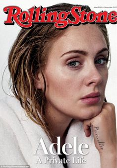 Tell-all chat:Adele shared this fresh-faced picture of herself on the front cover of Rolling Stone magazine via Instagram on Tuesday