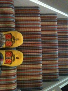 A different viewpoint  #minniemoonstone  Striped carpet (stairs)